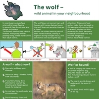 "Infoblatt ""The wolf – wild animal in your neighbourhood"""