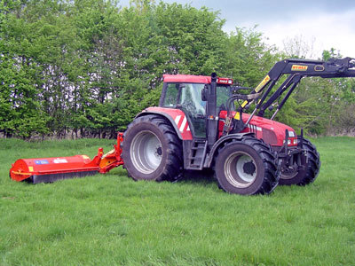Flail mower for maintenance of meadows and ditches